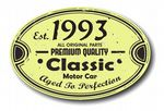 Distressed Aged Established 1993 Aged To Perfection Oval Design For Classic Car External Vinyl Car Sticker 120x80mm